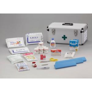 災害多人数用救急箱20人用  堅牢なつくりのアルミ製救急ケースです。  【本体サイズ】 D 22.5...
