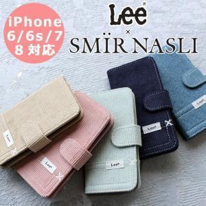 サミールナスリ iphoneケース Lee SMIRNASLI iPhone6/6s/7/8対応 手帳型 SMIR NASLI リー コラボレーション コーデュロイ モバイルケース スマホ 011100028|touzaiyamakaban