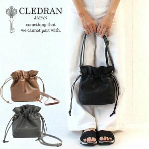 最大41%還元 クレドラン  CLEDRAN ショルダーバッグ ANNE アネ 2WAY ショルダー CL3208 日本製 巾着 レザーショルダーバッグ 革 正規品|東西南北屋