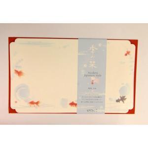 便箋 季の栞(しおり) 金魚柄 ランチョンマット ポイント消化|towakouribu