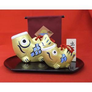 端午の節句 金運出世鯉 親子 陶人形 五月人形|towakouribu