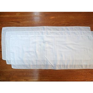 【当日発送】[ゴム紐購入可]ダブルガーゼ 手ぬぐい 白 3枚セット【送料込】|towel-agatsuma