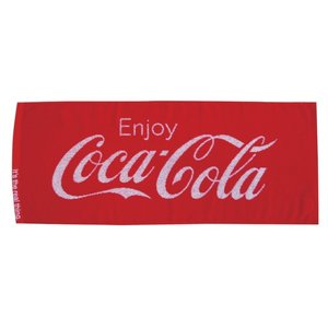 コカコーラ フェイスタオル ふわふわジャガード織 送料無料 COCA COLA towel-en