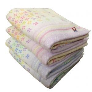 2018新作 今治タオル キャンディフラワー フェイスタオル 4枚セット(ブルー2枚・ピンク2枚)  送料無料 towel-en