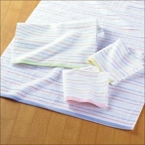 バスタオル 日本製 泉州タオル ルミエールライン 約60×120cm|towelmall