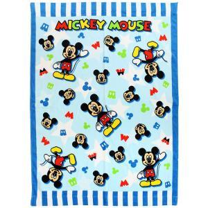 お昼寝 タオルケット ディズニー ミッキーマウス ライトミッキー マルチタオル 約85×115cm