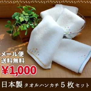 タオルハンカチ メール便送料無料 日本製 5枚セット 約20×20cm ビスコットグレイス しずく