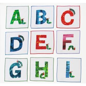 プチタオル はらぺこあおむし アルファベット 約18×20c...