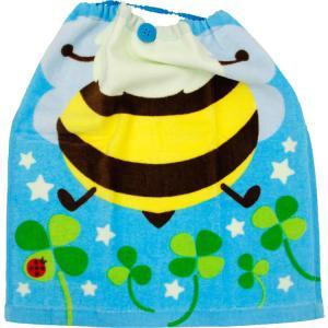 保育園 エプロン おりこうタオル ビークローバー 抗菌防臭加工付 約34×35cm お名前タグつき 子ども|towelmall