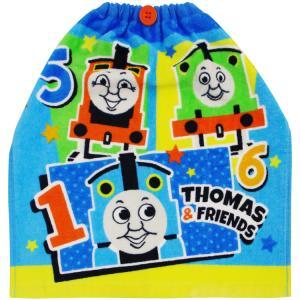 保育園 エプロン おりこうタオル トーマス ポップアウト 約34×35cm お名前タグつき 子ども|towelmall