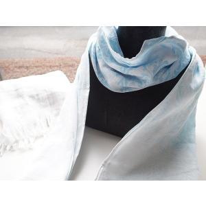 ハイドロ銀チタンラフィネMFT+4 ガーゼマフラー ブルー