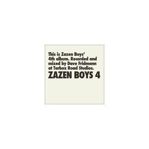 ZAZEN BOYS ZAZEN BOYS 4 CD