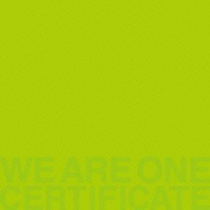TRICERATOPS WE ARE ONE -CERTIFICATE- CD