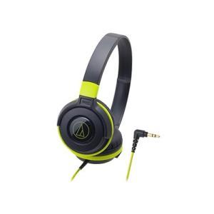 audio-technica ポータブルヘッドホン ATH-S100 Black Green Hea...