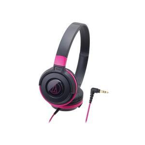 audio-technica ポータブルヘッドホン ATH-S100 Black Pink Head...