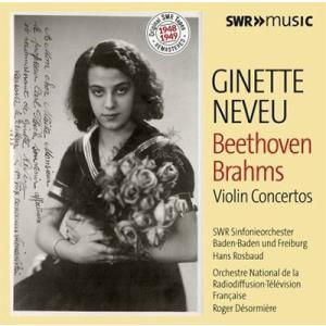 ジネット・ヌヴー ベートーヴェン&ブラームス: ヴァイオリン協奏曲集 CD