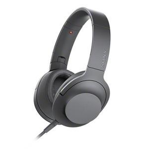 SONY ハイレゾ対応 ヘッドホン h.ear on 2 MDR-H600A グレイッシュブラック ...
