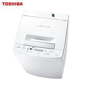 洗濯機 一人暮らし 東芝 縦型 洗濯容量4.5kg パワフル洗浄 ステンレス槽 TOSHIBA AW-45M7(W)|townmall