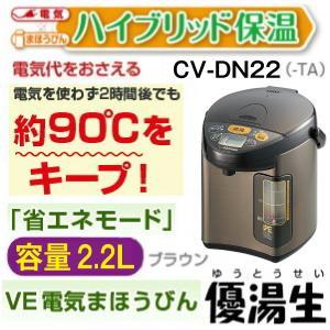 象印 電気ポット(電動ポット)VE電気まほうびん 優湯生 マイコン沸とう 容量2.2L CV-DN22-TA|townmall