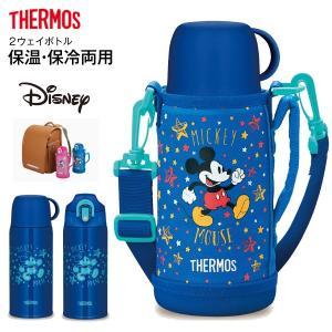 ミッキーマウス サーモス 真空断熱2ウェイボトル ステンレスボトル 2WAY THERMOS 水筒 0.6L(600ml) FHO-600WFDS-BLS|townmall