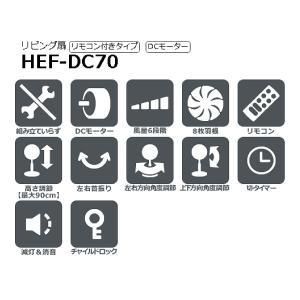 (わけあり アウトレット) HEFDC70 日立 微風(うちわ風)扇風機(リビング扇・サーキュレーター・送風機)リモコン付き 30cm 8枚羽根(HITACHI) (訳)HEF-DC70|townmall|02