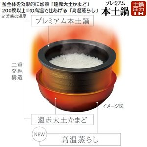 GX GRANDX グランエックス TIGER タイガー 土鍋圧力IH炊飯ジャー THE炊きたて 炊飯器 5.5合 JPX-102X-KS|townmall|03