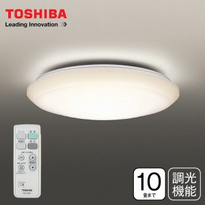 東芝 電球色 LEDシーリングライト (6畳 8畳) 10畳用 日本製 調光 単色タイプ LED照明器具 天井照明 TOSHIBA LEDH84179L-LD|townmall