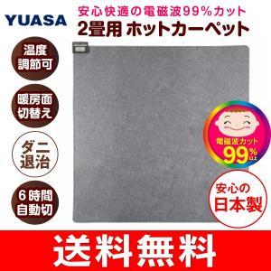 電磁波カット ホットカーペット 電気カーペット 本体 2畳用 日本製 自動切タイマー ダニ退治 ユアサ(YUASA) YC-WK200T(K)|townmall