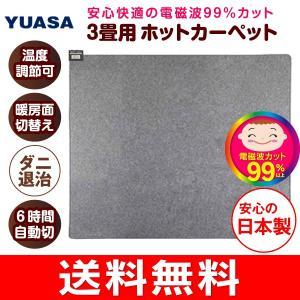 電磁波カット ホットカーペット 電気カーペット 本体 3畳用 日本製 自動切タイマー ダニ退治 ユアサ(YUASA) YC-WK300T(K)|townmall