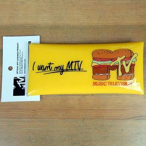 MTV HAMBURGER MULTI CASE★ハンバーガー クリアマルチケース イエロー|toy-burger