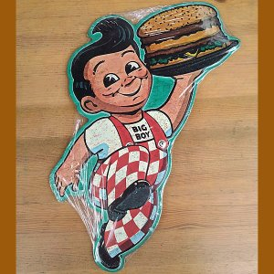 BIG BOY TIN PLATE★ビッグボーイ エンボス ブリキ 看板|toy-burger