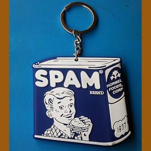 SPAM★スパム PVC キーホルダー オールド缶 toy-burger