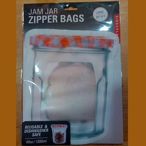Jam Jar Zipper Bags L set of 2...