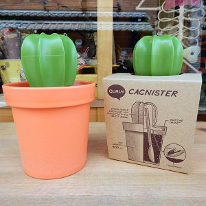 CACNISTER canister & spoon★サボテンのキャニスター&スプーン|toy-burger