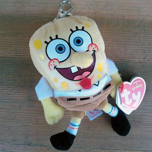 Sponge Bob★Ty スポンジ・ボブ キーチェーン|toy-burger