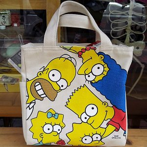 The Simpsons Lunch Bag★シンプソンズ 天ファスナー付きスクエア保冷バッグ|toy-burger