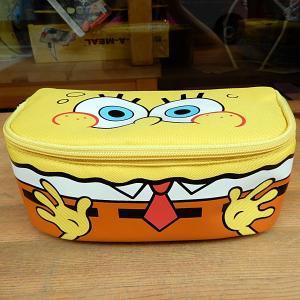 Sponge Bob ★スポンジ・ボブ  フルオープン ペンポーチ ズボン|toy-burger