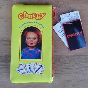 CHUCKY★チャッキー フラットポーチ イエロー|toy-burger