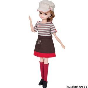 リカちゃんドレスシリーズ♪  ミスタードーナツショップの店員さんドレスセットです。  お店に合わせて...