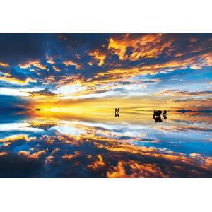 商品名:EPO-71-334 風景 ウユニ塩湖 夕景-ボリビア 300ピース サイズ:26×38cm...
