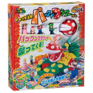 おもちゃ EPT-07300 ボードゲーム スーパーマリオ かみつき注意!パックンフラワーゲーム|toy-shop