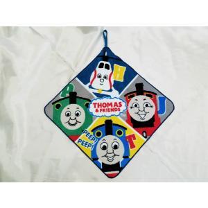 【メール便OK!】 機関車トーマス (カルテットフレンド) ループ付きハンドタオル|toy-time