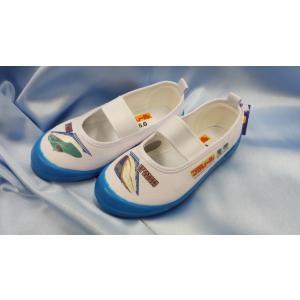 【送料無料】プラレール(E5系はやぶさ新幹線×E7系かがやき新幹線) 上履き【オリジナルシューズ袋付き】|toy-time