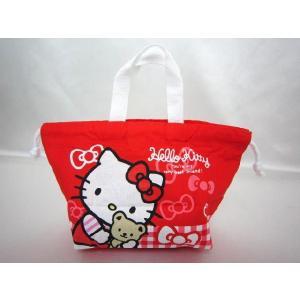 【メール便OK!】【サンリオ】ハローキティ(くまとリボン) 巾着お弁当袋 toy-time