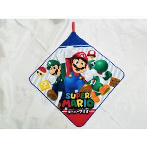 【メール便OK!】スーパーマリオ(バスケット)ループ付ハンドタオル toy-time