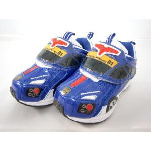【特価30%OFF】 トミカ スニーカー ハイパーブルーポリス スーパーソニックランナー (マジックテープタイプ) 車型の運動靴|toy-time