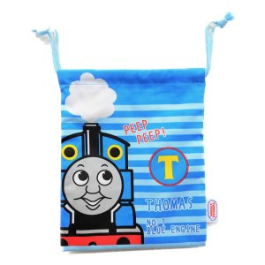 メール便なら送料無料 機関車(きかんしゃ)トーマス  巾着 Sサイズ|toy-time