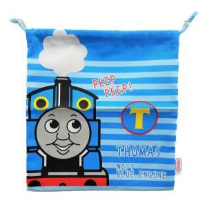 メール便なら送料無料 機関車(きかんしゃ) トーマス   巾着 Mサイズ|toy-time