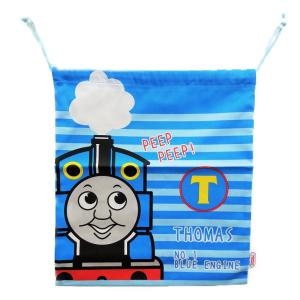 メール便なら送料無料 機関車(きかんしゃ)トーマス  巾着 Lサイズ|toy-time