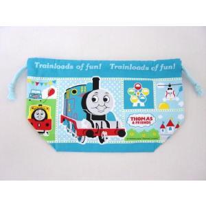 【メール便OK!】 機関車トーマス (遊園地でパレード柄) 巾着お弁当袋 toy-time